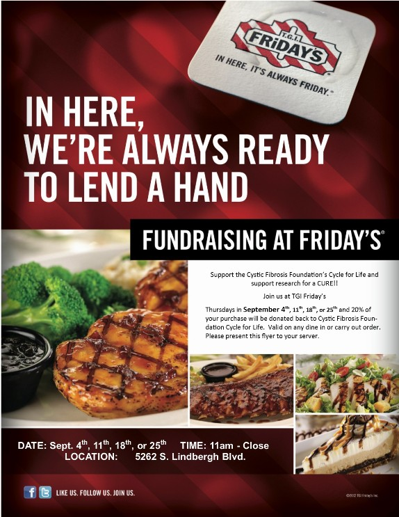 Dine to Donate - CF Cycle for Life @ TGI Friday's | Sappington | Missouri | United States