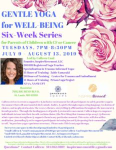 Gentle Yoga for Well Being: Six Week Series for Parents of Children with CF and Cancer @ Empowered Spaces